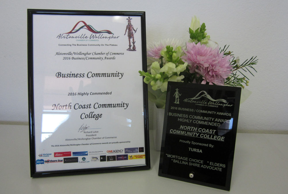 North Coast Community College Awarded AWCC Business Community Award