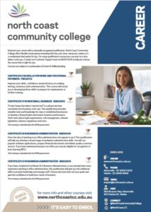 Careers Courses 2018 at North Coast Community College