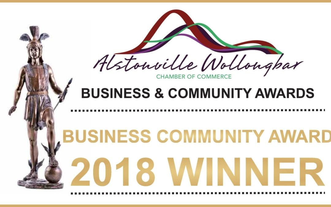 Winners of Local Chamber Business Community Award